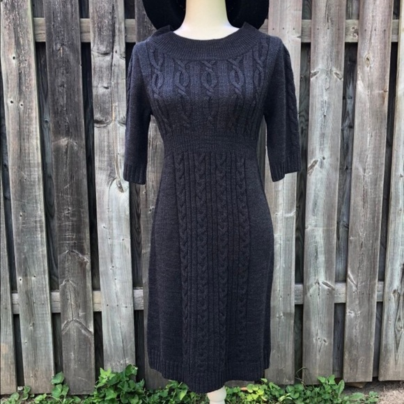 Dress Barn Dresses & Skirts - Sweater dress cable knit high waisted